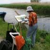 Freizeitmalerin im Achterland auf Usedom 1