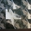 Filigranes Eis auf Braun 1
