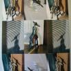 Mädchenplastik mit Schatten und Licht 1