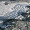 Eisschneegebilde am Usedomer Ostseestrand 1