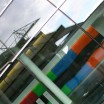 Gebäude diagonal mit Spiegelung 1