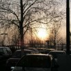 Parkplatz in der Abendsonne 1